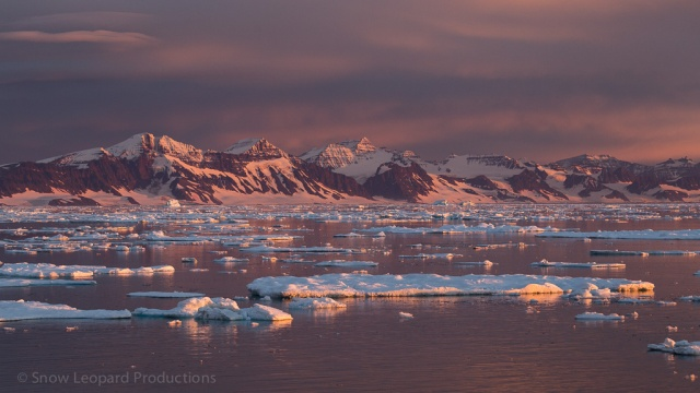 Sunset on Scoresby Sund