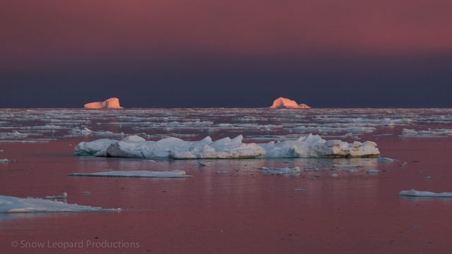 Sunset on Scoresby Sund